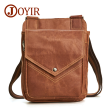 JOYIR Mens Bags Genuine Leather male Crossbody Small Casual Flap Men Messenger Bag Shoulder Handbag 6361