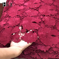 African Cord Lace fabrics 2019 Latest French guipure Lace Fabric For Evening Dress High Quality white lace fabric