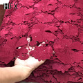 Tejido de encaje de cordón africano 2019 última tela de encaje de guipur francés para vestido de noche tela de encaje blanco de alta calidad