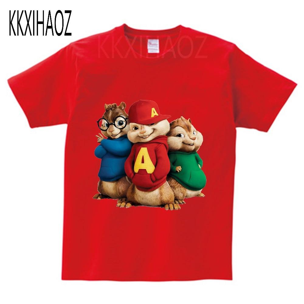 Alvin and the Chipmunks Alvin Print t-shirt kids tops Tee Comfortable t shirt boy girl Casual cartoon Short Sleeve TEE camiseta 2