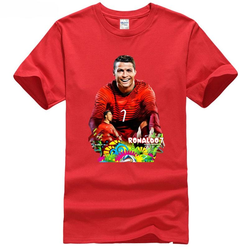 Cotton T-Shirt Fashion 2018 club Ronaldo NO.7 in Madrid city footballer champions games