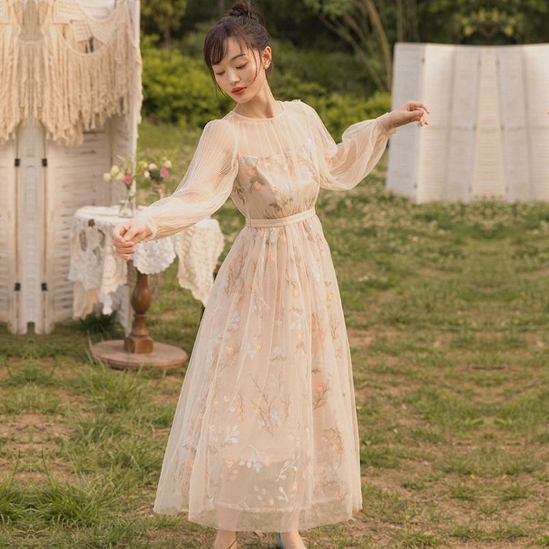 SexeMara mode la nouvelle robe à manches longues en maille grande broderie pendule livraison gratuite