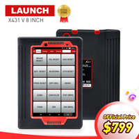 LAUNCH X431 V 8 INCH Car Diagnostic Tool For 12V Gasoline Diesel Full ECU System X