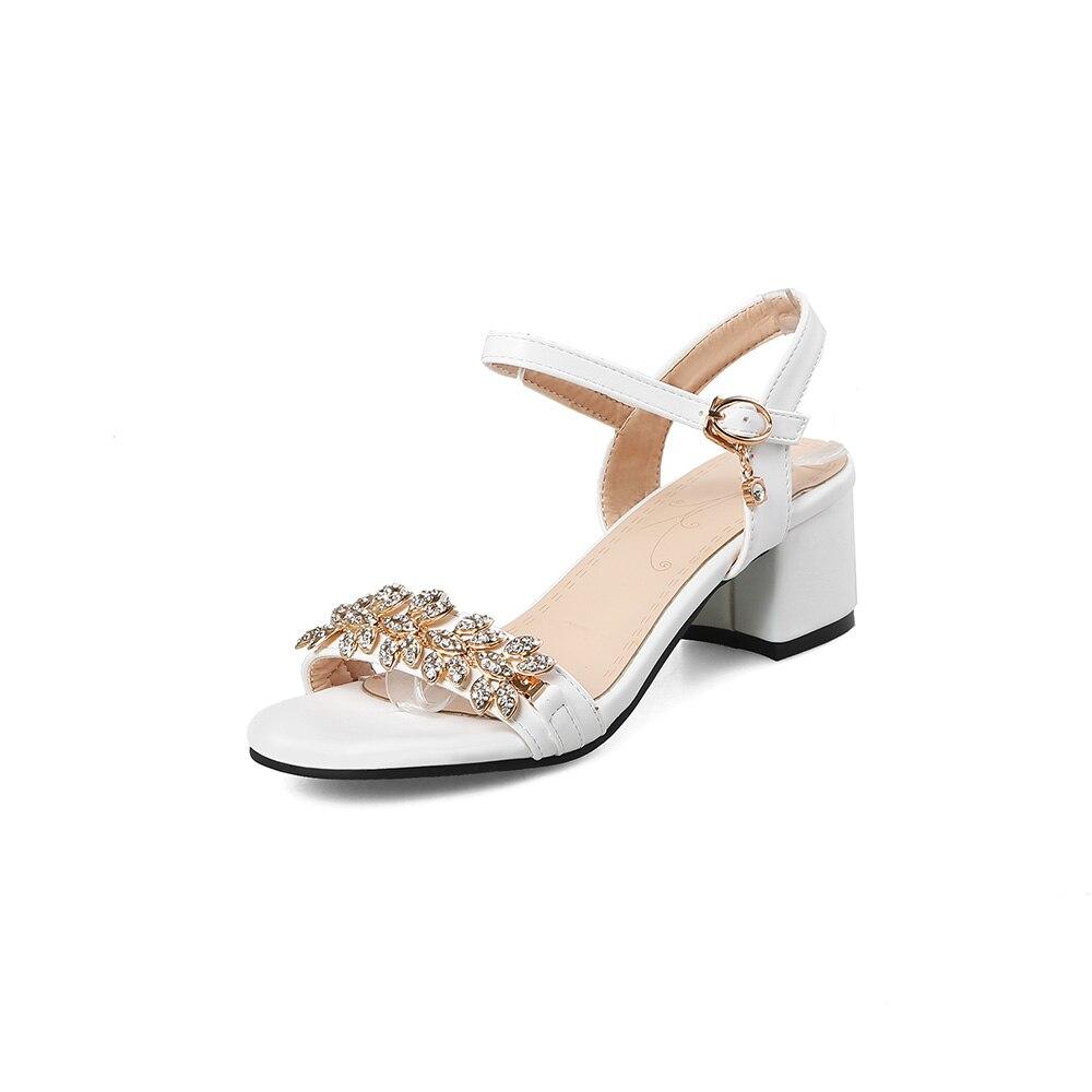 47 2018 Verano Sandalias Tacones black Zapatos Negro Glamour 31 45 Ventas Grande Tamaño Nuevo Mujeres Roma Eg56 white Beige Tachonado 10 52 Beige Señora Más AAq0Rr5x
