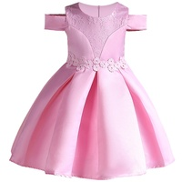 Kids Baby Lace Princess Dress For Girl Formally Birthday Party Dress Bowkont Tutu Princess Dress Baby