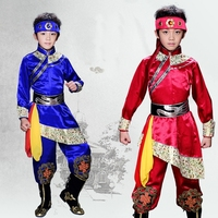 Mongolian traditional clothes national dance of China mongolian clothing costume ethnic Chinese folk dance clothing DD1941