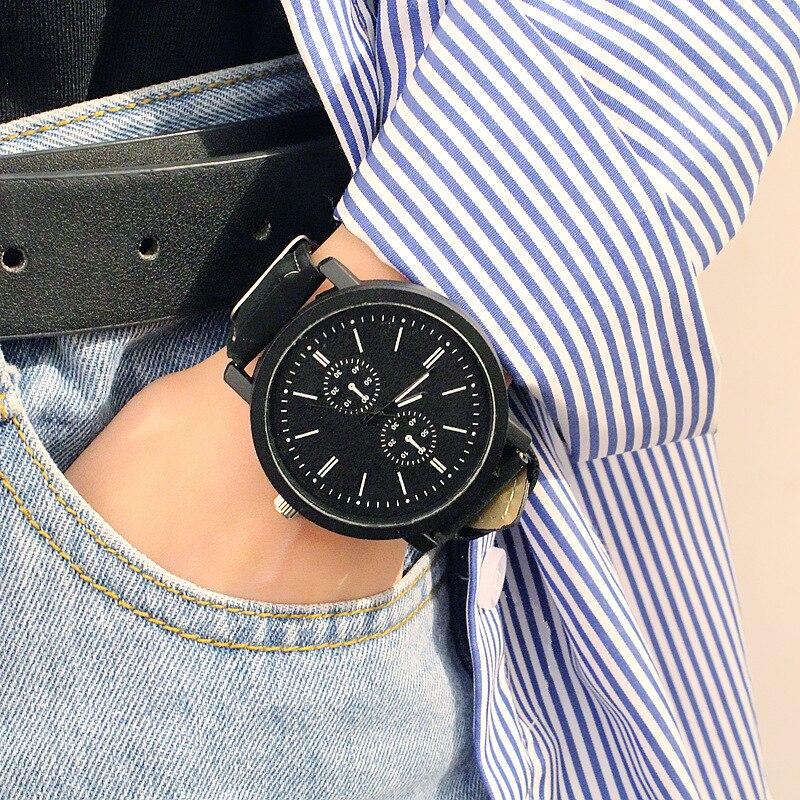 Retro Design Leather Band Watches Men Top Brand Relogio Masculino Men's Woman Sports Clock Analog Quartz Wrist Watch