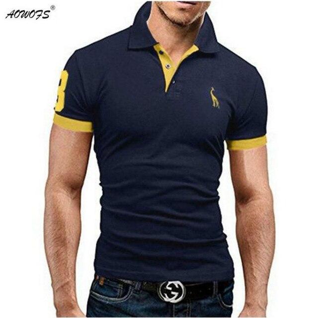 Mens Polo Shirt Brands 2017 Male Short Sleeve Fashion Casual Slim Deer  Embroidery Printing Men Polos b0d808800407