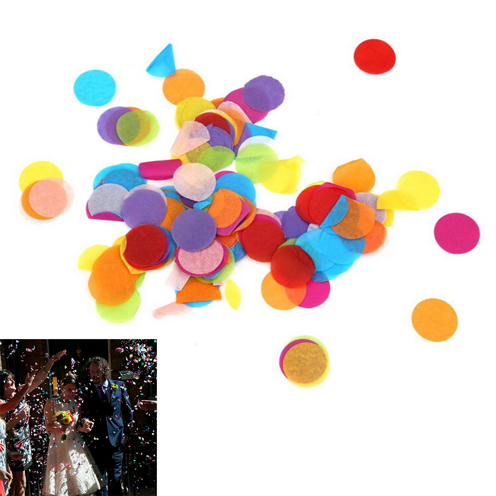 Party Pinata Us 1 03 16 Off Aliexpress Buy 800pcs Bag Circle Shape Wedding Sprinkles Tissue Paper Confetti Boda Birthday Party Pinata Fillers Table