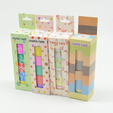 6pcs/Set washi tape stickers scrapbooking masking tape decorative fita adesiva grid washi pink rainbow wide animal girl kawaii