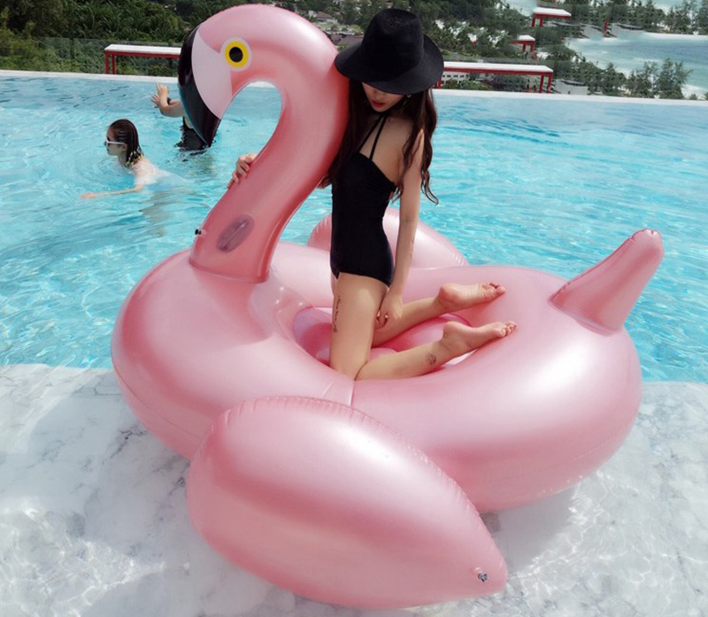 Giant Inflatable Flamingo 60 Inches Unicorn Pool Floats Tube Raft Swimming Ring Circle Water Bed Boia Piscina Adults Party Toys (41)