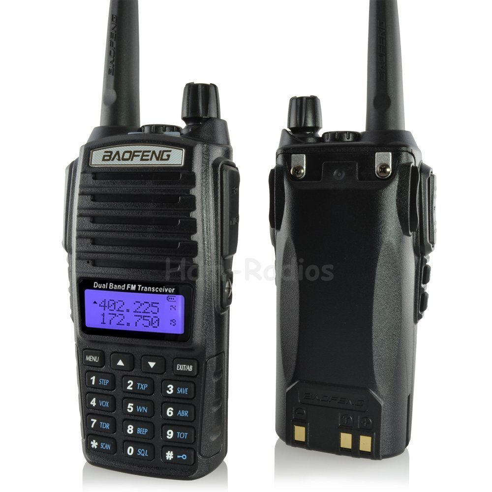 BaoFeng BF-UV-82 walkie taklie transceiver 5W VHF UHF Dual Band 136-174/<font><b>400</b></font>-520 <font><b>MHz</b></font> Ham CB FM two way radio Free earpiece image