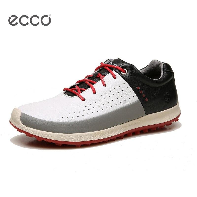 ECCO 2018 обувь для гольфа мужская непромокаемая спортивная обувь уличная натуральная кожа повседневная обувь ультралегкие дышащие Нескользя