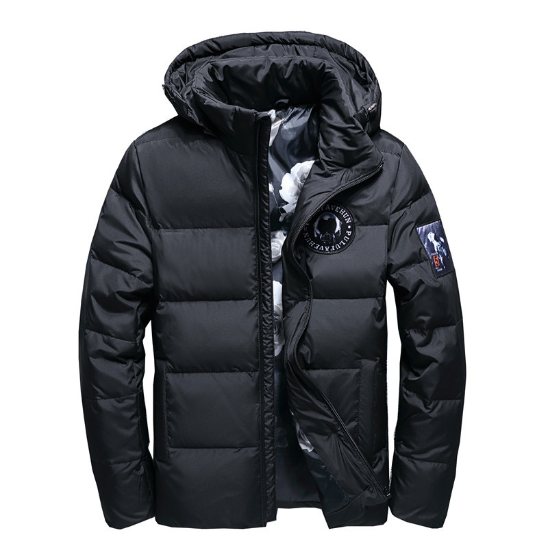 Men's Hooded   Down   Jacket Winter Men's Warm   Down     Coats   Male Wadded Jacket Warm Outerwear Detachable Hooded Snow Parkas