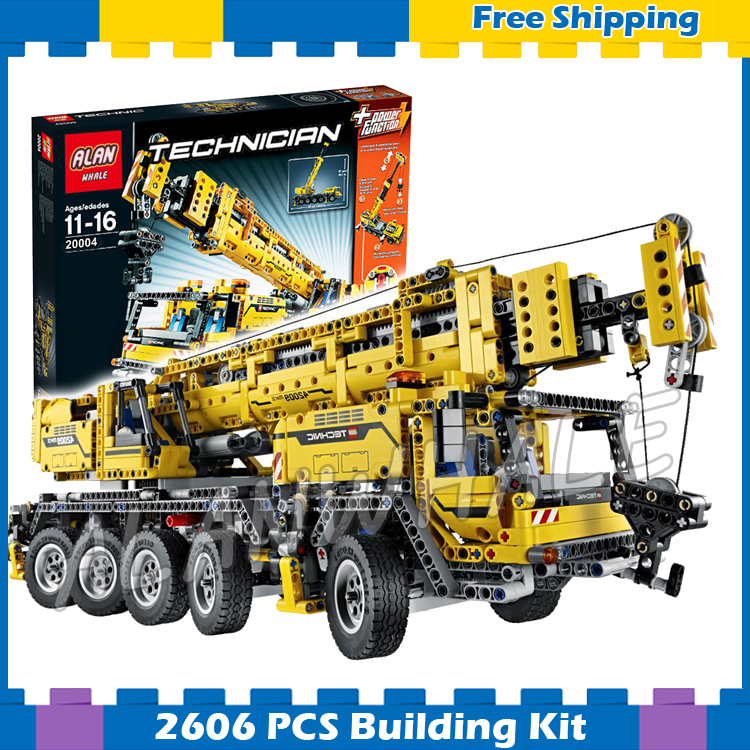 2606pcs 2in1 Technic Mobile Crane MK II Container Stacker 20004 Model Building Blocks Gifts sets Machine Compatible with Lego 720pcs techinic 2in1 motorized container