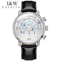 Карнавал Для мужчин часы Relogio masculino лучший бренд роскошные кожаные Военная Униформа часы Для мужчин Повседневные часы Relojes HOMBRE Новинка 2017 го