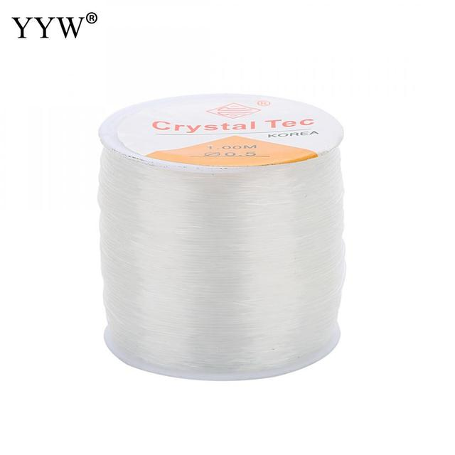 100m/PC DIY Crystal Beading Stretch Cord Elastic Line,0.5/1mm Transparent Clear Round Beading Wire/String/Thread Jewelry Making 1