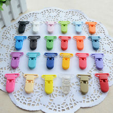 1000 шт/партия 25 мм KAM детские нагрудники, пластиковая Плавная прищепка для соски 28 цветов на выбор