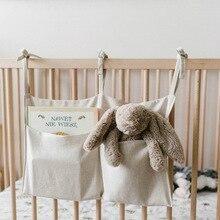 Многофункциональная сумка для хранения для младенцев, детская кроватка для младенца, подвесная сумка, органайзер для подгузников, игрушечный карман для пеленок, Комплект постельного белья