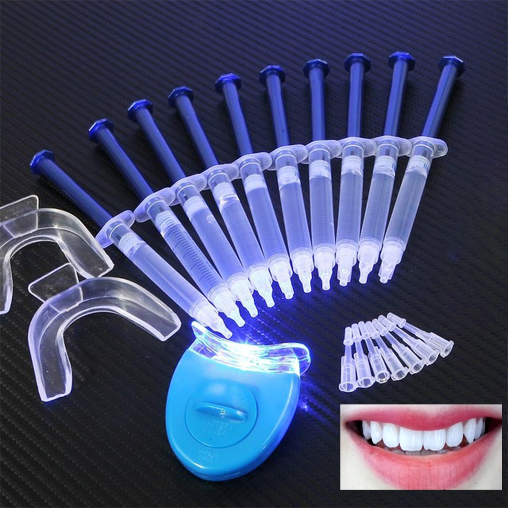10 Gel 1 LED White Tooth Bleach Hot Teeth Whitening Carbamide Peroxide Dental Bleaching System Oral Gel Kit 3D Oral Hygiene
