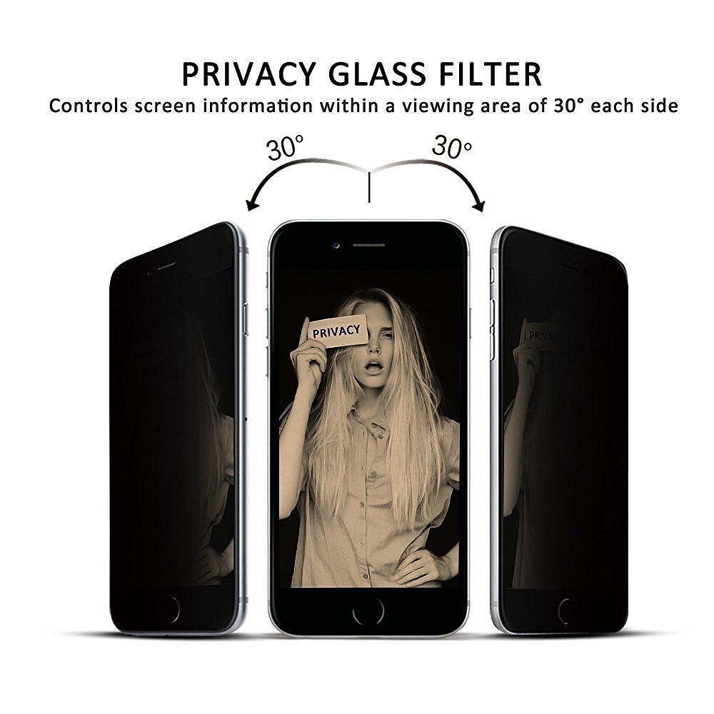 Full Privacy Screen Tempered Glass For iphone 6 6S 7 8 X XR XS MAX Anti Glare Screen Protector High Definition Anti-peeping Film image