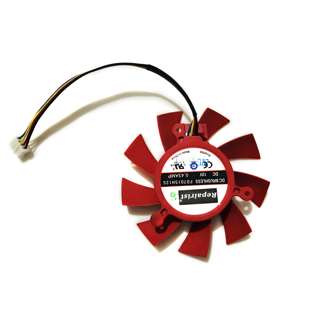 GPU VGA Cooler Graphics Card Fan FD7015H12S 4pin 4lines For XFX Video Cards As Replacement
