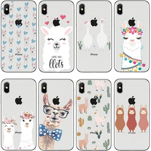 Lovely Lama Llama Alpacas Soft TPU Mobile Phone Cases For iphone X XS XR MAX 11 11Pro MAX 6 6s Plus 7 8 Plus X 5 5S Capa Coque(China)
