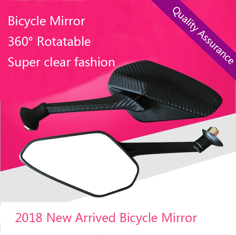 360 degrees Rotatable Bicycle Mirror Handlebar Glass Wide Rearview Fashion New