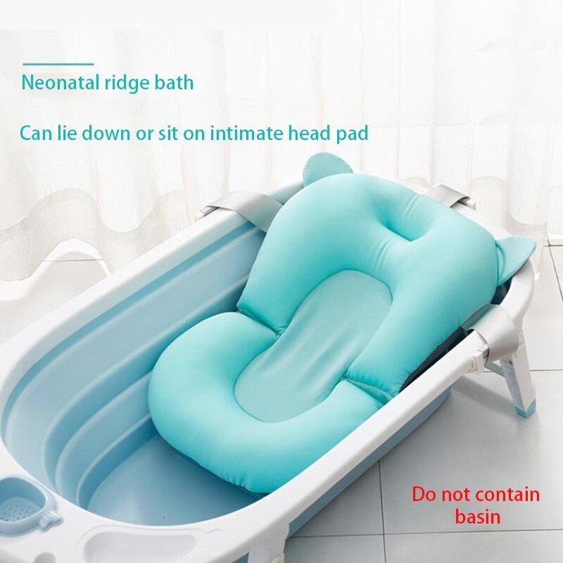 Детская переносная воздушная подушка для душа, нескользящий коврик для ванной, коврик для ванной, безопасность для новорожденных, сиденье для ванной, складная мягкая подушка