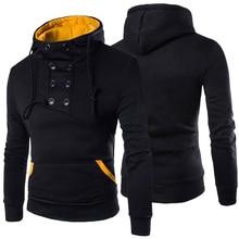Autumn New Men Hoodies Sweatshirts Casual Solid Long Sleeve Hoodie Slim Fit Pullovers Sweatshirt Plus Size Hoody Streetwear