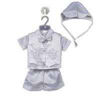 BBWOWLIN Baby Boy Christening Baptism Clothes White Cross Pattern for 0 2Y Baby Boy Clothes 70684