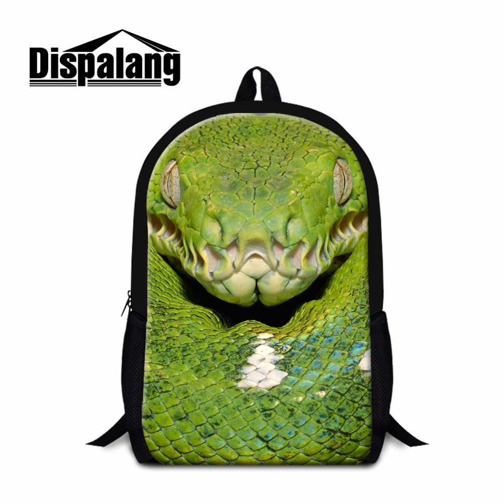 Dispalang Trendy Backpack Patterns Animal Snake School Bookbags Girls Lightweight Shoulder Back Pack Cool Mochilas for Boys