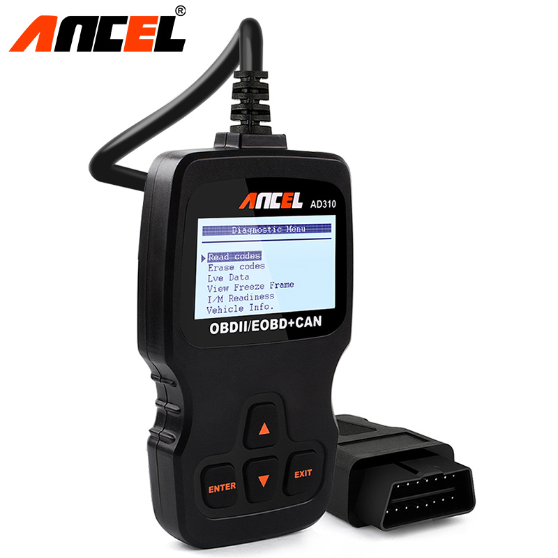 ANCEL AD310 OBD2 Auto Error Fault Code Erase Reader LCD Display Car Engine Diagnostic