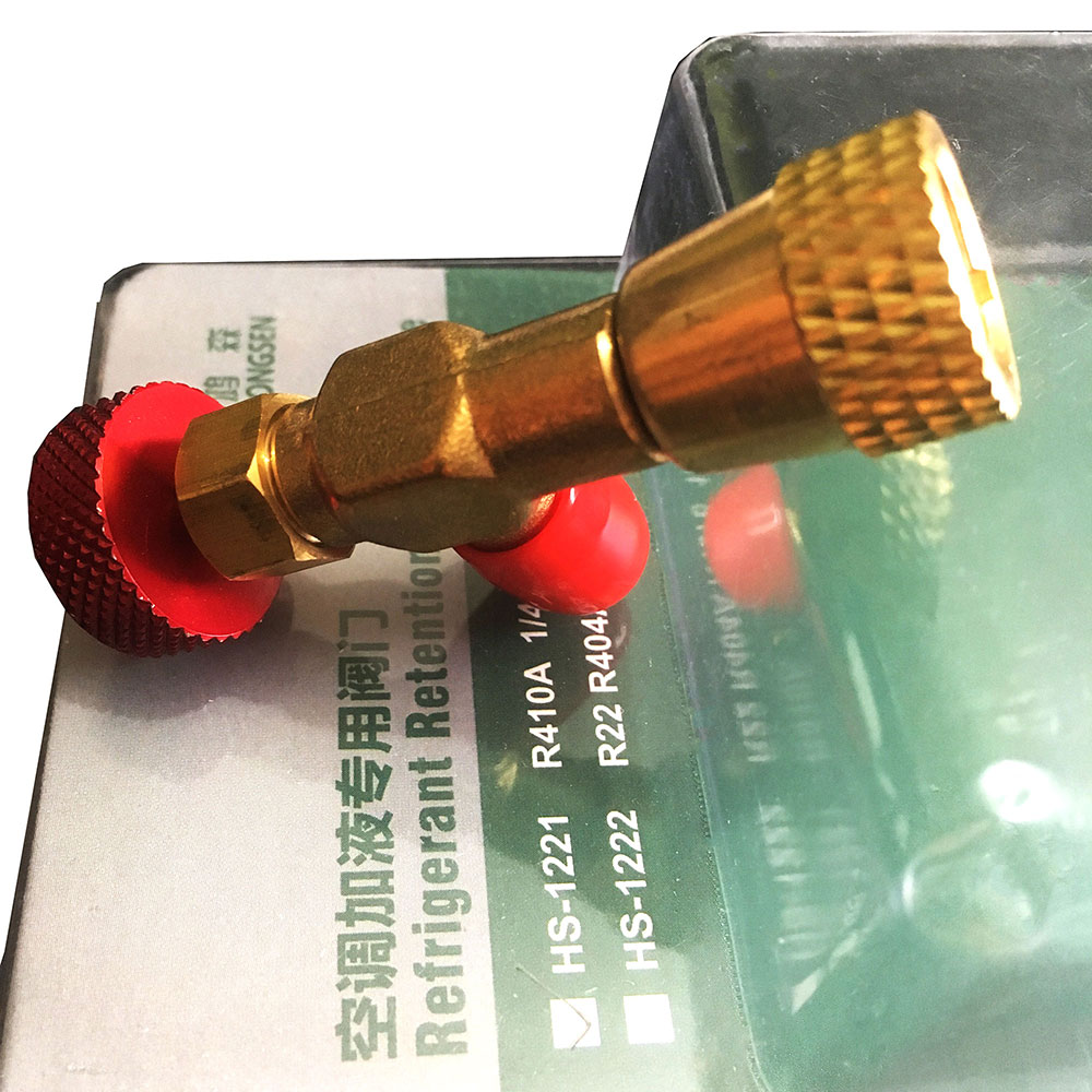 HS-1221/HS-1222 R410A/R22 Refrigeration Charging Adapter refrigerant retention control valve Air conditioning charging valve