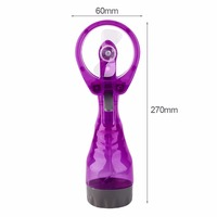 Portable Handhold Water Mist Fan 2In1 Functions Powerful Fan Mini Outdoor Water Cooling Spray Fan Humidification Fan 4