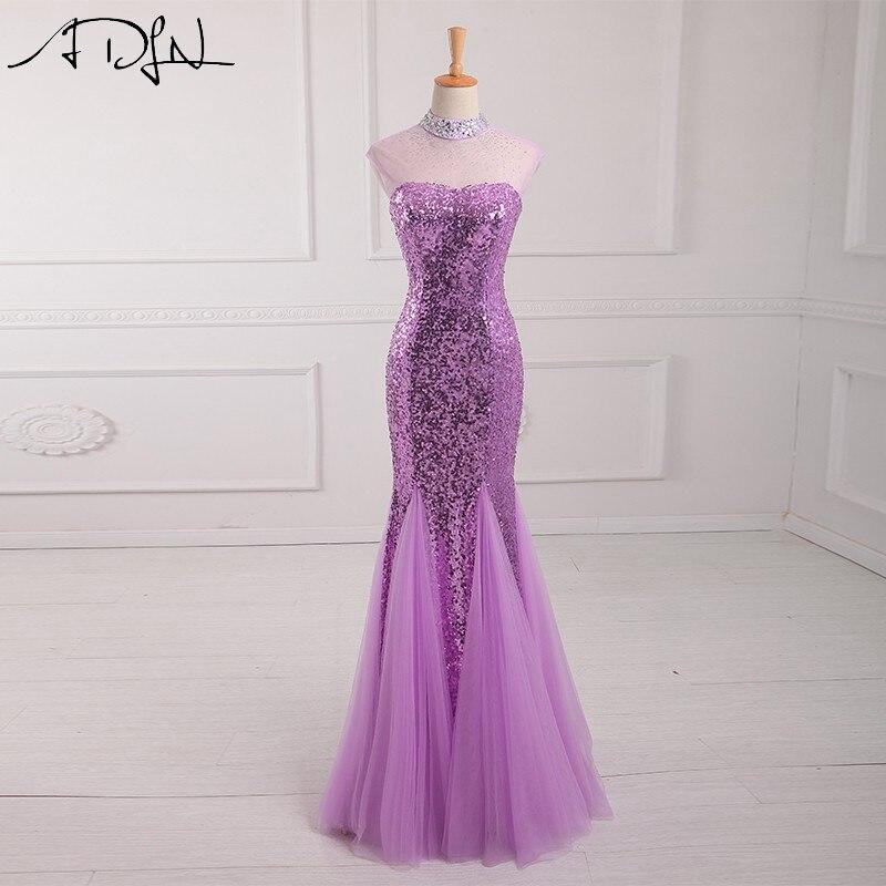 ADLN Sequined Mermaid Evening Dresses 2018 Vestidos De Noche ...