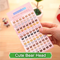 SST* 1 Sheet ' Cute Bear Head ' Cartoon Cute Kawaii 3D Bubble Stickers Scrapbook Sticker Creative Stationery Kindergarten Gift +
