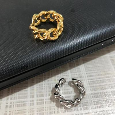 2019 New Ring Simple Euro American Gold plated Hollow Opening Adjustable ague anillos mujer anel aneis anelli ring bisuteria in Rings from Jewelry Accessories