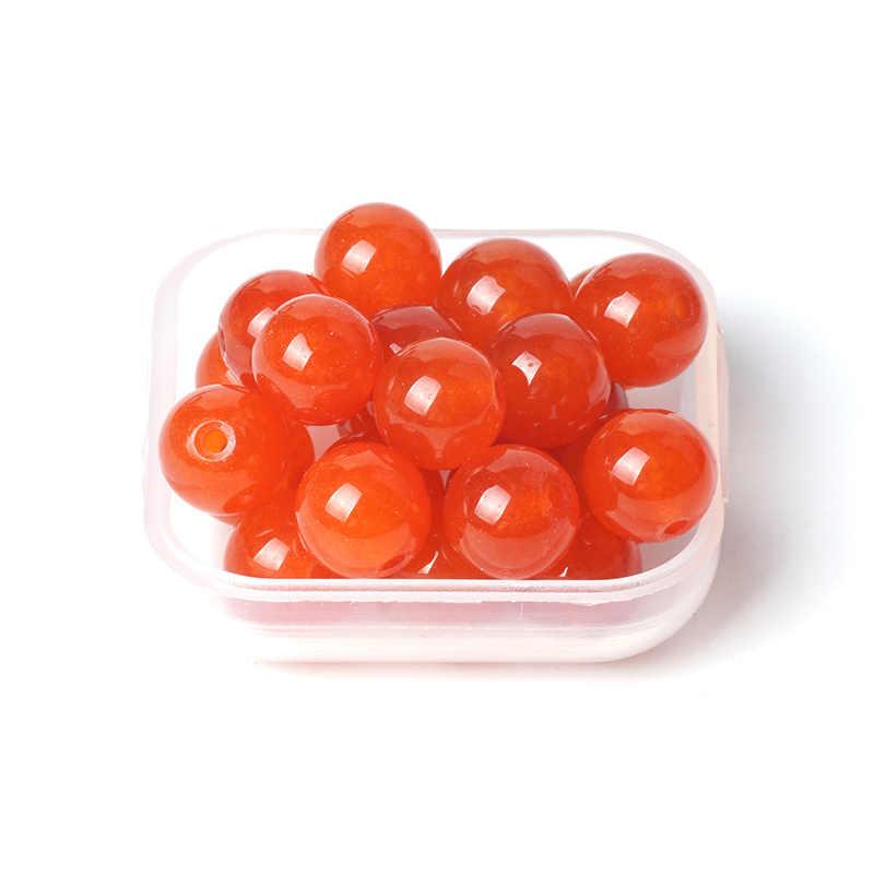 "TopGoods ธรรมชาติ Jasper ลูกปัดกลมสีส้มสีแดงหยกลูกปัดหิน 6/8/10 มิลลิเมตร 15 ""อัญมณีผู้หญิง Diy Fine สร้อยข้อมือเครื่องประดับ"