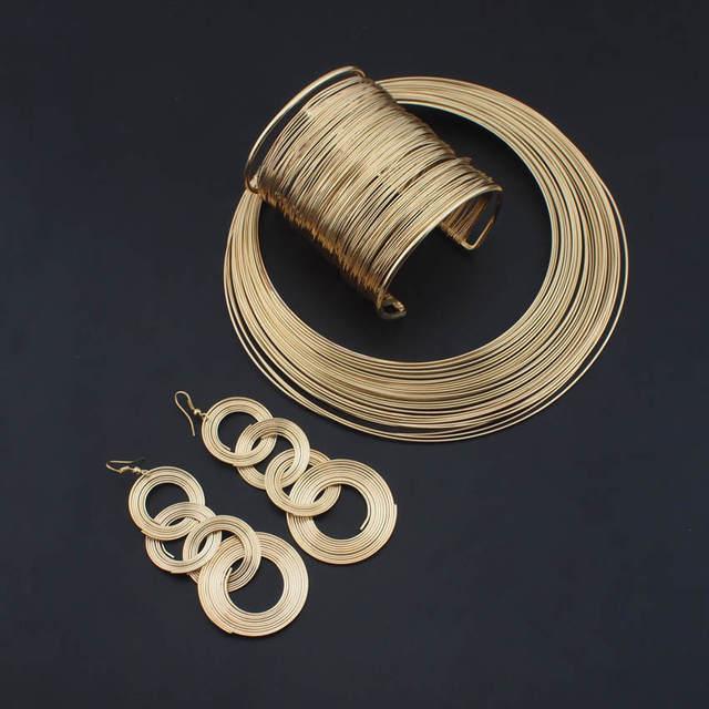 danfosi indian jewelry set fashion metal wire torques
