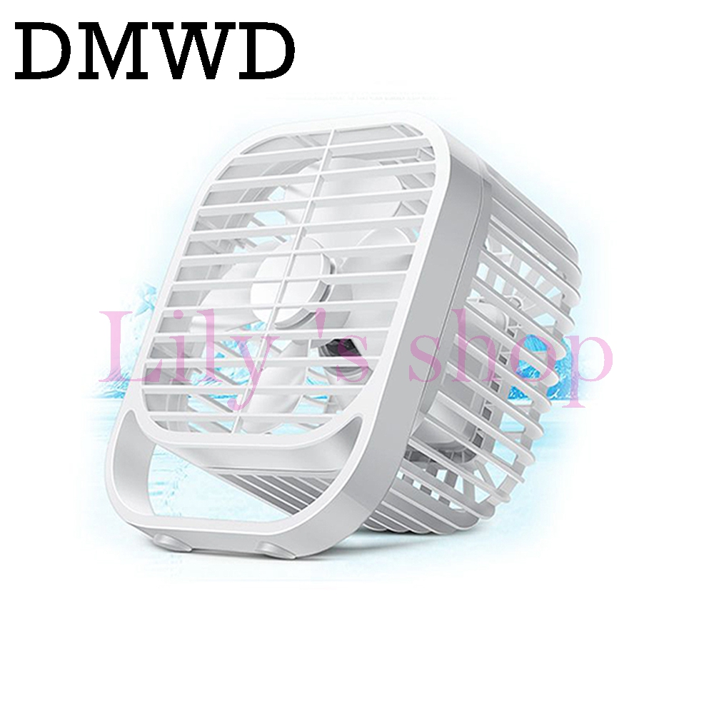 DMWD Mini mute USB cooling fan 7 inch Desktop PC Laptop Computer strong wind cooler samll blower portable air Conditioning fans mini vacuum blue led usb air extracting cooling fan for laptop
