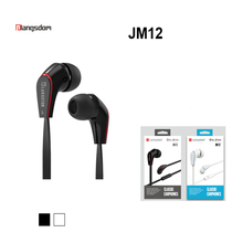 цена на JM12 In ear Earphone Super Bass Headset Hifi Earbuds with Microphone for Mobile Phone iPhone