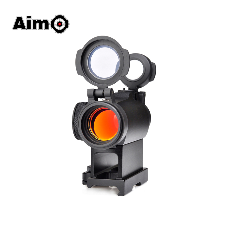 Image 2 - Aim AIrsoft Red Dot Sight Mit QD Berg Tactical Zielfernrohr Jagd shoot  Zielfernrohr AO5074Riflescopes