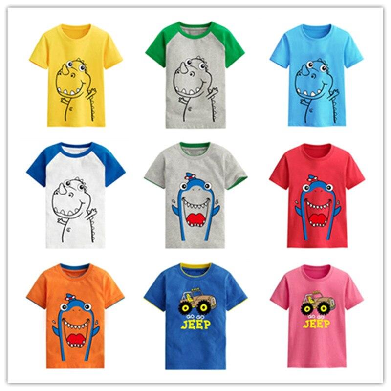 e2f3a13bd VIDMID Verão Crianças Menino de Algodão de Manga Curta T-shirt Tops de  Crianças Carro Dos Desenhos Animados Da Listra Padrão Animal Blusa Roupas  4068 02