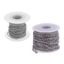 2 rolka kabel ze stali nierdzewnej łańcuch 12 metrów każda rolka hipoalergiczny Link kabel łańcuchowy ustalenia rzemiosło