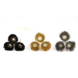 Image 5 - XCAN cepillo de rueda de pulido, 10 Uds., cepillo de alambre de vástago de 3,mm para herramientas rotativas Dremel, accesorios