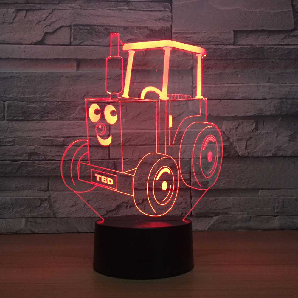 New Toy Car New Fancy Gift Remote Control 3d Led Night Lamp Birthday Gift Factory Wholesale 3d Light Fixtures