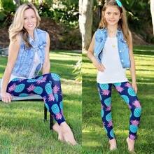 51226ee75da New Yoga Pants Kids Girl Women Family Stretch Gym Clothes Running Sport  Legging Fitness New Pineapple Cartoon Family Pants
