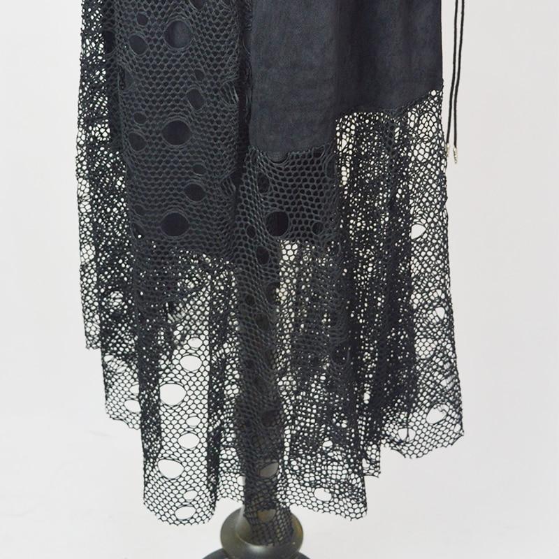 Femmes Constumen Maille Taille Automne Robes Résille Noble Cou Creux La Longues Haute Halloween Élégant Plus Partie Robe Fantaisie Gothique fafpxn8