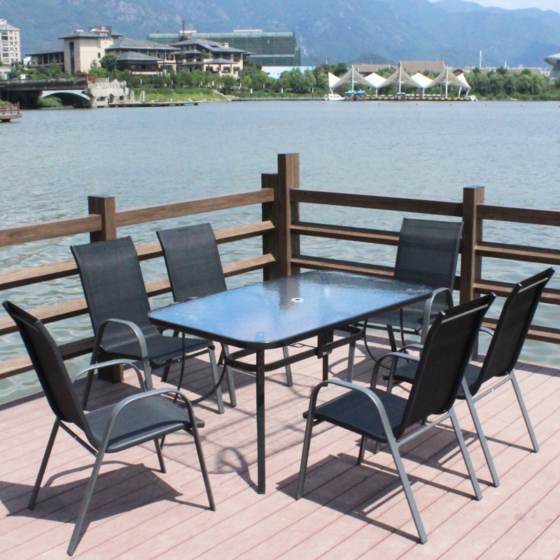 outdoor umbrella tables and chairs combination fiv balcony outdoor furniture